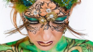 Make-up, body paint, styling, handmade lashes and headdress by Mona Turnbull Model: Chiara Elizabetta