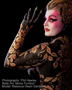 Fine Art Body Painting by Mona Turnbull Model: Becca