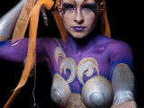 body art, body painting,mona, mona turnbull, mua, make up artist, body painting, model, Shaolin, warrior, princess, silver and gold, pretty, fighter