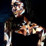 body art, body painting, mua, make up artist, body painting, model, male model, creative art, painting, art, fine art, triangles, triangel, cubism, triangulation, mona, mona turnbull, riangulism