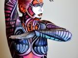 body art, body painting, mona, mona turnbull mua, make up artist, body painting, model, male model, creative art, painting, art, fine art, robot, cyborg, butterfly, humanoid, robot