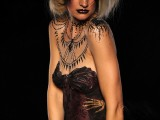 body art, body painting,mona, mona turnbull, mua, make up artist, body painting, model, glitter, gliter tattoo, gothic, glam goth, make up, creative make up,