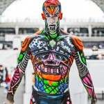 body art, body painting,mona, mona turnbull, mua, make up artist, body painting, model, blue, treasure, island, treasure island, pretty, mona, mona turnbull, cyborg, robot, male model, kryolan