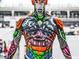 body art, body painting,mona, mona turnbull, mua, make up artist, body painting, model, blue, treasure, island, treasure island, pretty, mona, mona turnbull, cyborg, robot, male model, kryolan