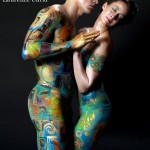 body art, body painting, mua, make up artist, body painting, model, male model, creative art, surrealism, surrealist, canvas, painting, art, fine art, the kiss, Klimt, Gustav Klimt, Gold, mona, mona turnbull,