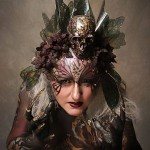 mona, mona turnbull, body art, body painting, mua, make up artist, body painting, model, bod art, creative headdress, butterflies, skulls, make up, mua, mona, mona turnbull, darkness and beauty, darkness, glam goth, gothic