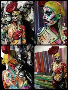 Rock the Cotswold, WIP, workd in progress, Body painting, body art, bodypaint, mona turnbull, picasso, award winning, artist Body Painting Sketch/Moodboard