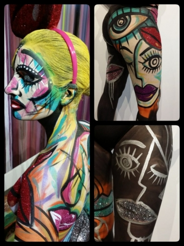 Lip Service body paint for Rock the Cotswold