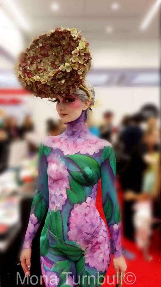 Hydrangea Body art