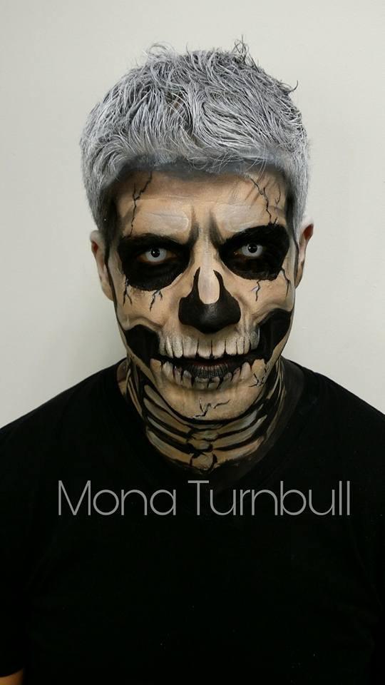 skull face art
